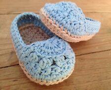 Sandalia Azul Tipo Esparteña 0/3 Zapato  Alpargatas Patucos Bebe Recién Nacido