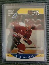 1990-91 Pro Set TRADED CARD TO BUFFALO SEPTEMBER 1990 Bill Houlder Card #417