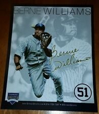 NY YANKEES STADIUM BERNIE WILLIAMS 51 RETIREMENT COLLECTORS CARD MAY 2015