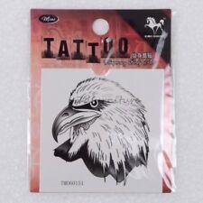 Temporary Tattoo White Goshawk Eagle Head Cool Fashion Stickers Painting 1pc