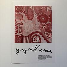 YAYOI KUSAMA, large exhibition brochure, 2016