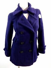 BE COOL WOMENS PURPLE  POLYESTER FLEECE PEACOAT SIZE S SUPER CUTE!