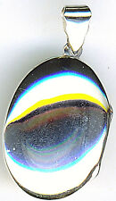 """925 Sterling Silver Highly Polished Plain Oval Locket 1.1/5"""" x 7/8"""" without bail"""