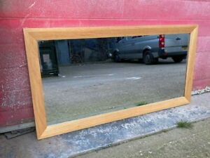 Solid Oak Rectangle Modern Mirror