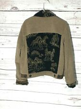 Vintage Tsunami Canadian Made Horse Print Fleece Coat Size Large
