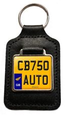 CB750 AUTO Reg (GB) Number Plate Leather Keyring for Honda CB 750 AUTO Owners