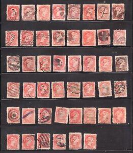 #41 x 46  - Canada - 1888 - 3c Small Queens - Used - F/VF  superfleas - est$30