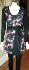 * REDUCED *   Caroline Morgan  Long Black  / Pink Top     Size 14     BRAND NEW