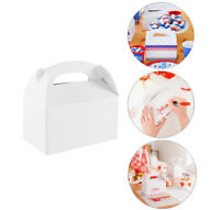 12pc White Paper Favor Candy Boxes Arts Crafts Wedding Party Favors