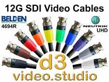 12G UlHD 4K HD SDI Digital Video Cable with Belden 4694R & Neutrik UHD BNC Plugs