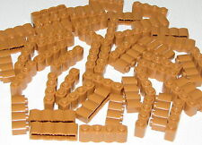 LEGO LOT OF 50 NEW MEDIUM DARK FLESH 1 X 4 WESTERN FORT LOGS PIECES