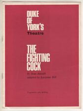 "John Clements  ""The Fighting Cock""  London   Playbill   1966  Jean Anouilh"