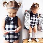 Cute Infant Baby Girl Kids Clothes Cotton Romper Jumpsuit Bodysuit Outfit 0-24M