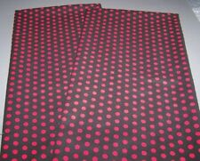 Red Polka Dots on Black Standard/Queen/King Pillowcase Set New