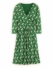 BODEN Elena Dress - UK 20 R - Jersey Fixed Wrap GREEN - BRAND NEW - UK 20R WH719