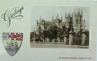 .SYDNEY , ST ANDREW'S CATHEDRAL NEW SOUTH WALES 1913 POSTCARD