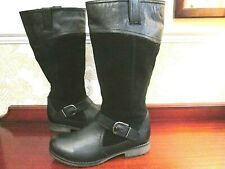 Lotus size 8 (41) black leather  knee high boots NEW