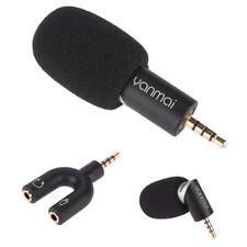 Mini microfono rotante 90° condensatore pr smartphone tablet+splitter cuffie Y1M