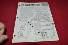 Lorain Crain How To Use Excess Cable TL Series Dealer's Brochure RPMD