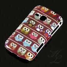 Samsung Galaxy Mini 2/s6500 Hard Case Cellulare Astuccio PICCOLO GUFO ROSSO OWL