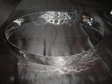 cintura METALLO martellato BAGNO argento schiava  alta 2,5 cm ANCHE SU MISURA