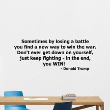 Donald Trump Quote Wall Decal Business Vinyl Sticker Office Art Decor 222crt