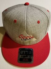 e070a138e12 Coors Light Adult SNAPBACK Snap Back Flat Bill Hat Cap OTTO NEW! Baller NWT