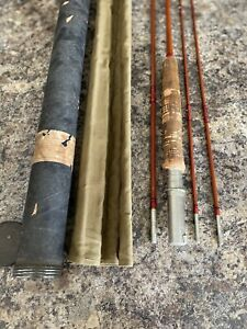 Vintage Fly Rod Goodwin Granger Champion Denver Bamboo Fishing Rod 3pc,2 Tips