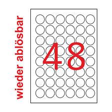 32 Etiketten 97x67,7mm wieder ablösbar 4 Blatt A4 97x67 Kores Non Permanent