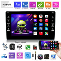 "8"" Android 9.1 Car Radio Stereo GPS MP5 Player Double 2Din WiFi Quad Core 1G+16G"