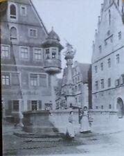 Rothenburg ob der Tauber, Market, Fountain, Germany, Magic Lantern Glass Slide