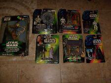 Star Wars  Power Force Lot Luke Han Leia Boba Fett 300 Laser Cannon POTF Figure