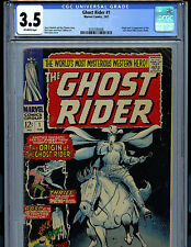 Ghost rider #1 CGC 3.5 VG- 1967 Silver Age Marvel 1st Carter Slade Amricons K2