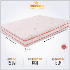 Miasuite - Materasso matrimoniale in Memory Foam 160x190 alto 25 cm con disposit