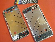 Kit COVER GUSCIO CHASSIS RICAMBIO per APPLE IPHONE 4 4G CENTRALE CORNICE METALLO