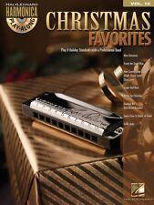 Christmas Favorites Harmonica Play-Along Book and Cd New 000001350