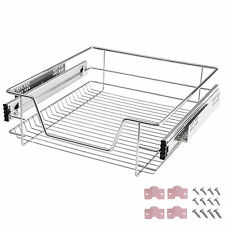 Panier de rangement coulissant cuisine meuble pour placard étagère tiroir 50 cm
