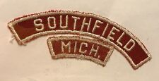 SOUTHFIELD MICH Red and White Strip CITY AND STATE RWS TT5
