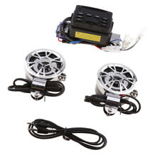 Black Motorcycle Handlebar Audio Amplifier Radio Stereo Speaker MP3&FM Radio