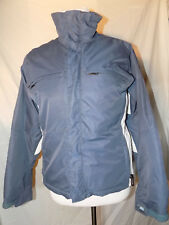 Womens Burton XS Extra Small Ski Snowboarding Racing Style Jacket Gray Good Cond
