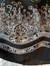 Vintage Long Herman Geist Black & White Wrap Skirt 24Wp