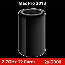 Mac Pro Finales De 2013 2.7GHz 12-Core Dual AMD D300 32GB RAM 512GB Pcie Nvme