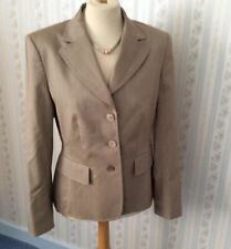 Ladies Jobis Pin Stripe Jacket - Virgin Wool- Silk - Light Brown UK12