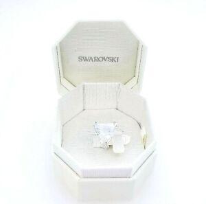 New 100% Authentic SWAROVSKI White Triangle crystal Mesmera clip earring 5600753