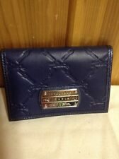 LONGCHAMP LM Cuir French Leather Card Case~Navy~NEW