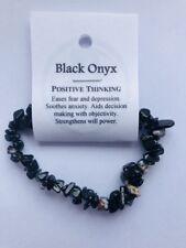 Black Onyx Gemstone Crystal Chip Bead Stretch Healing Bracelet BUY 2 GET 1 FREE