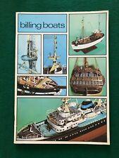 Billing Boats - Schiffsmodellbau Katalog von 1974