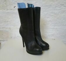 Ladies Medium Height Thin Heeled Black Kelsi Dagger Boots 10
