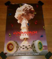 Vintage Cockroach Australia Skateboard Wheels Store Display Poster 28