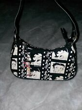 Betty Boop Film Strip Black Small Purse Hand Shoulder Bag EUC + Cute Key Chain